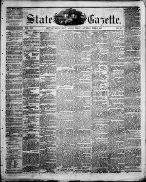 Primary view of object titled 'State Gazette. (Austin, Tex.), Vol. 8, No. 42, Ed. 1, Saturday, June 6, 1857'.