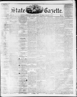 Primary view of object titled 'State Gazette. (Austin, Tex.), Vol. 9, No. 1, Ed. 1, Saturday, August 22, 1857'.