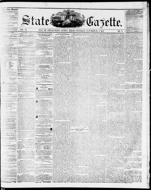 Primary view of object titled 'State Gazette. (Austin, Tex.), Vol. 9, No. 3, Ed. 1, Saturday, September 5, 1857'.