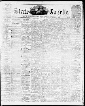Primary view of object titled 'State Gazette. (Austin, Tex.), Vol. 9, No. 4, Ed. 1, Saturday, September 12, 1857'.