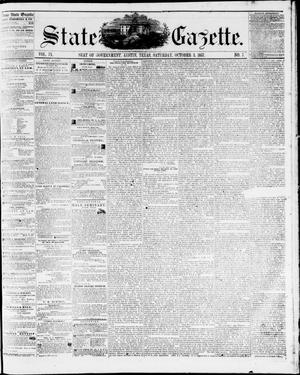 Primary view of object titled 'State Gazette. (Austin, Tex.), Vol. 9, No. 7, Ed. 1, Saturday, October 3, 1857'.