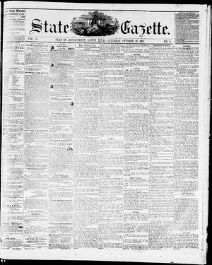 Primary view of object titled 'State Gazette. (Austin, Tex.), Vol. 9, No. 8, Ed. 1, Saturday, October 10, 1857'.