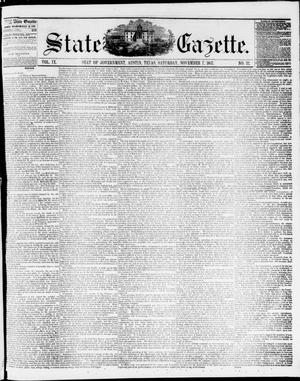 Primary view of object titled 'State Gazette. (Austin, Tex.), Vol. 9, No. 12, Ed. 1, Saturday, November 7, 1857'.