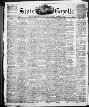 Primary view of object titled 'State Gazette. (Austin, Tex.), Vol. 9, No. 17, Ed. 1, Saturday, December 12, 1857'.