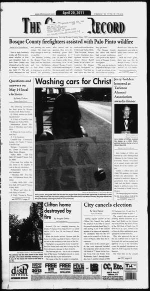 The Clifton Record (Clifton, Tex.), Vol. 117, No. 16, Ed. 1 Wednesday, April 20, 2011