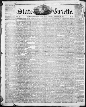 Primary view of object titled 'State Gazette. (Austin, Tex.), Vol. 9, No. 19, Ed. 1, Saturday, December 26, 1857'.