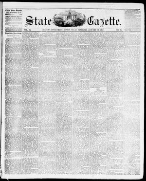 Primary view of object titled 'State Gazette. (Austin, Tex.), Vol. 9, No. 24, Ed. 1, Saturday, January 30, 1858'.