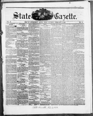Primary view of object titled 'State Gazette. (Austin, Tex.), Vol. 9, No. 25, Ed. 1, Saturday, February 6, 1858'.