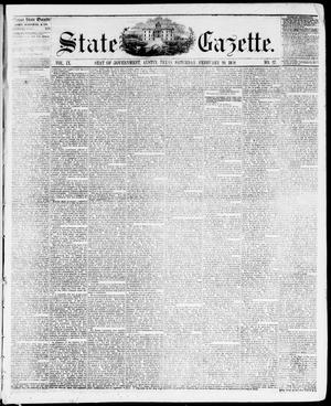 Primary view of object titled 'State Gazette. (Austin, Tex.), Vol. 9, No. 27, Ed. 1, Saturday, February 20, 1858'.