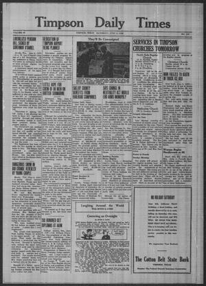 Primary view of object titled 'Timpson Daily Times (Timpson, Tex.), Vol. 38, No. 110, Ed. 1 Saturday, June 3, 1939'.