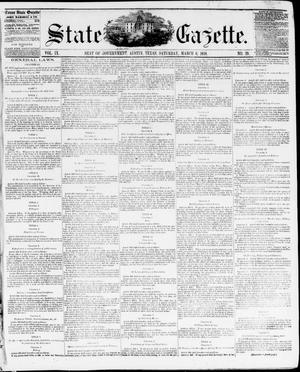 Primary view of object titled 'State Gazette. (Austin, Tex.), Vol. 9, No. 29, Ed. 1, Saturday, March 6, 1858'.