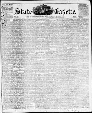 Primary view of object titled 'State Gazette. (Austin, Tex.), Vol. 9, No. 31, Ed. 1, Saturday, March 20, 1858'.