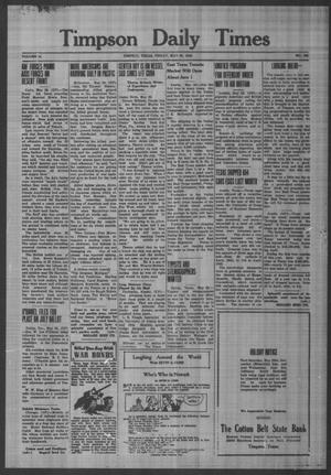 Primary view of object titled 'Timpson Daily Times (Timpson, Tex.), Vol. 41, No. 106, Ed. 1 Friday, May 29, 1942'.