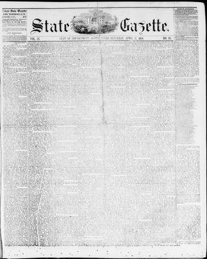 Primary view of object titled 'State Gazette. (Austin, Tex.), Vol. 9, No. 35, Ed. 1, Saturday, April 17, 1858'.