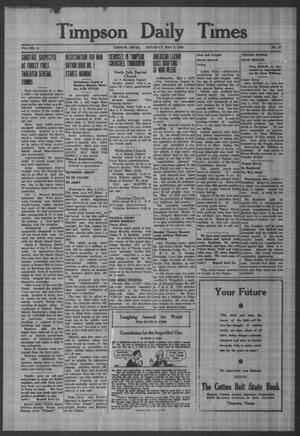 Primary view of object titled 'Timpson Daily Times (Timpson, Tex.), Vol. 41, No. 87, Ed. 1 Saturday, May 2, 1942'.