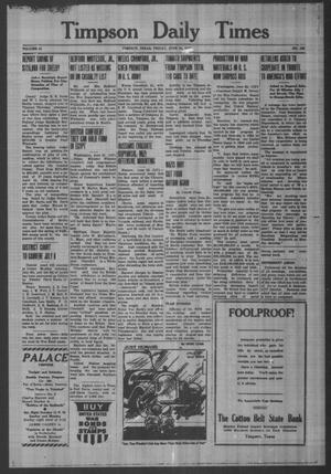 Primary view of object titled 'Timpson Daily Times (Timpson, Tex.), Vol. 41, No. 125, Ed. 1 Friday, June 26, 1942'.
