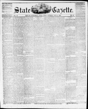 Primary view of object titled 'State Gazette. (Austin, Tex.), Vol. 9, No. 44, Ed. 1, Saturday, June 19, 1858'.