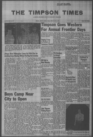 Primary view of object titled 'The Timpson Times (Timpson, Tex.), Vol. 80, No. 28, Ed. 1 Friday, July 9, 1965'.