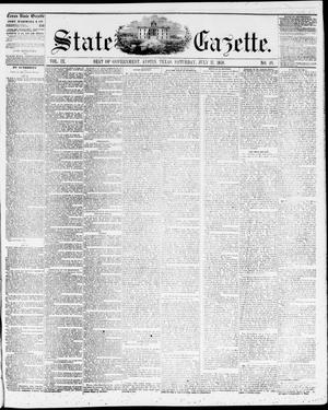 Primary view of object titled 'State Gazette. (Austin, Tex.), Vol. 9, No. 49, Ed. 1, Saturday, July 17, 1858'.