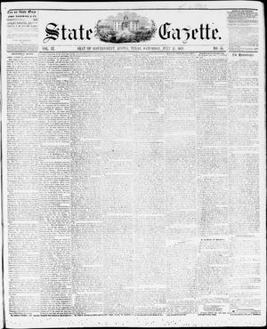 Primary view of object titled 'State Gazette. (Austin, Tex.), Vol. 9, No. 51, Ed. 1, Saturday, July 31, 1858'.