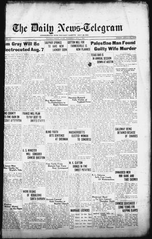 Primary view of object titled 'The Daily News-Telegram (Sulphur Springs, Tex.), Vol. 27, No. 150, Ed. 1 Wednesday, July 1, 1925'.