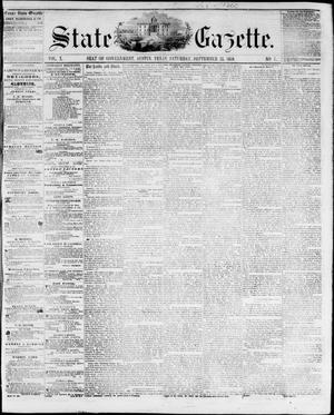 Primary view of object titled 'State Gazette. (Austin, Tex.), Vol. 10, No. 7, Ed. 1, Saturday, September 25, 1858'.