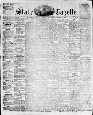 Primary view of object titled 'State Gazette. (Austin, Tex.), Vol. 10, No. 12, Ed. 1, Saturday, October 30, 1858'.