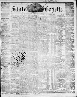 Primary view of object titled 'State Gazette. (Austin, Tex.), Vol. 10, No. 14, Ed. 1, Saturday, November 13, 1858'.