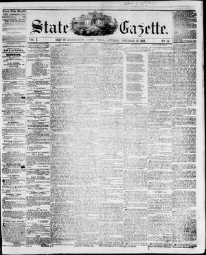 Primary view of object titled 'State Gazette. (Austin, Tex.), Vol. 10, No. 15, Ed. 1, Saturday, November 20, 1858'.