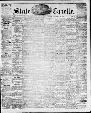 Primary view of object titled 'State Gazette. (Austin, Tex.), Vol. 10, No. 16, Ed. 1, Saturday, November 27, 1858'.