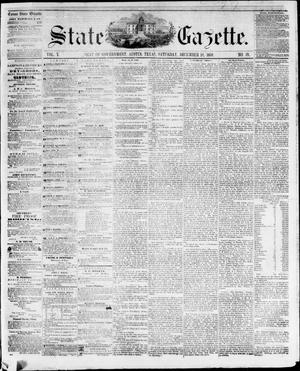 Primary view of object titled 'State Gazette. (Austin, Tex.), Vol. 10, No. 19, Ed. 1, Saturday, December 18, 1858'.