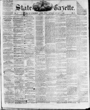 Primary view of object titled 'State Gazette. (Austin, Tex.), Vol. 10, No. 21, Ed. 1, Saturday, January 1, 1859'.