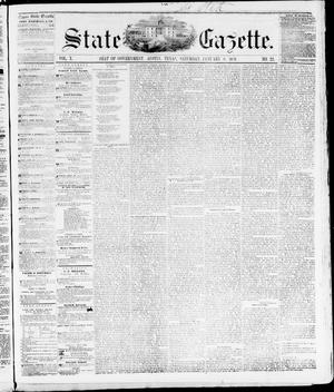 Primary view of object titled 'State Gazette. (Austin, Tex.), Vol. 10, No. 22, Ed. 1, Saturday, January 8, 1859'.