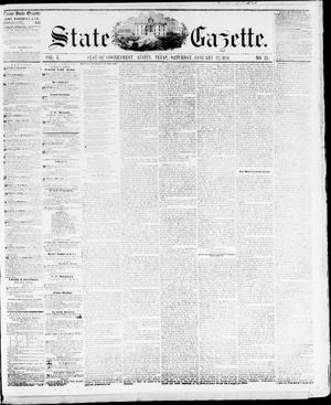 Primary view of object titled 'State Gazette. (Austin, Tex.), Vol. 10, No. 24, Ed. 1, Saturday, January 22, 1859'.