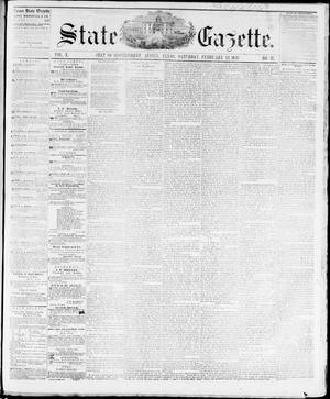 Primary view of object titled 'State Gazette. (Austin, Tex.), Vol. 10, No. 27, Ed. 1, Saturday, February 12, 1859'.