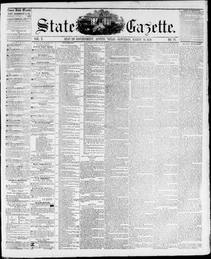 Primary view of object titled 'State Gazette. (Austin, Tex.), Vol. 10, No. 33, Ed. 1, Saturday, March 26, 1859'.