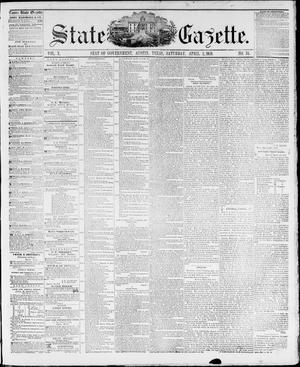 Primary view of object titled 'State Gazette. (Austin, Tex.), Vol. 10, No. 34, Ed. 1, Saturday, April 2, 1859'.