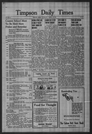 Primary view of Timpson Daily Times (Timpson, Tex.), Vol. 40, No. 56, Ed. 1 Wednesday, March 19, 1941