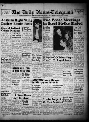 Primary view of object titled 'The Daily News-Telegram (Sulphur Springs, Tex.), Vol. 51, No. 264, Ed. 1 Sunday, November 6, 1949'.