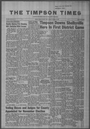Primary view of object titled 'The Timpson Times (Timpson, Tex.), Vol. 78, No. 42, Ed. 1 Friday, October 25, 1963'.