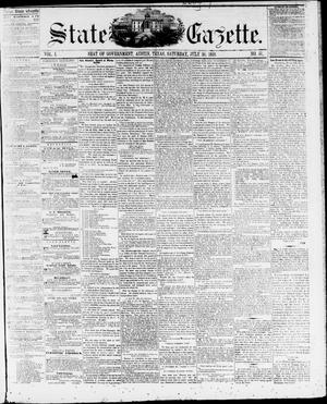 Primary view of object titled 'State Gazette. (Austin, Tex.), Vol. 10, No. 51, Ed. 1, Saturday, July 30, 1859'.