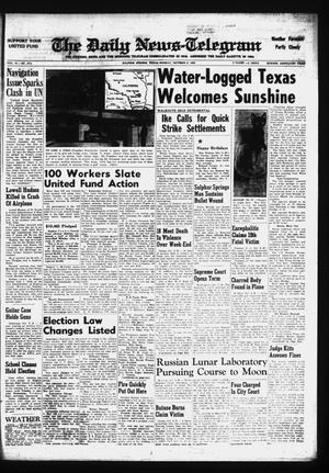Primary view of object titled 'The Daily News-Telegram (Sulphur Springs, Tex.), Vol. 81, No. 274, Ed. 1 Monday, October 5, 1959'.