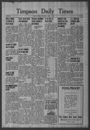 Primary view of object titled 'Timpson Daily Times (Timpson, Tex.), Vol. 41, No. 129, Ed. 1 Wednesday, July 1, 1942'.