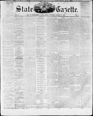 Primary view of object titled 'State Gazette. (Austin, Tex.), Vol. 11, No. 3, Ed. 1, Saturday, August 27, 1859'.