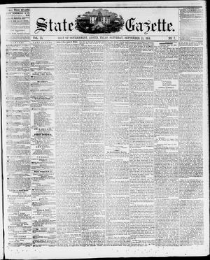 Primary view of State Gazette. (Austin, Tex.), Vol. 11, No. 7, Ed. 1, Saturday, September 24, 1859