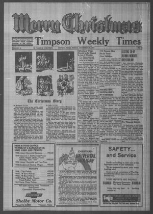 Primary view of object titled 'Timpson Weekly Times (Timpson, Tex.), Vol. 76, No. 51, Ed. 1 Friday, December 22, 1961'.
