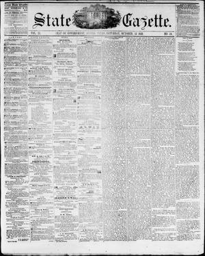 Primary view of object titled 'State Gazette. (Austin, Tex.), Vol. 11, No. 10, Ed. 1, Saturday, October 15, 1859'.