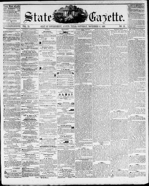 Primary view of object titled 'State Gazette. (Austin, Tex.), Vol. 11, No. 13, Ed. 1, Saturday, November 5, 1859'.