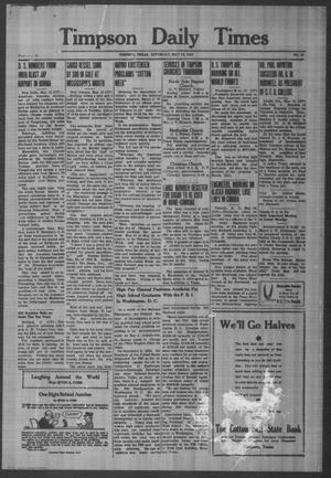 Primary view of object titled 'Timpson Daily Times (Timpson, Tex.), Vol. 41, No. 97, Ed. 1 Saturday, May 16, 1942'.