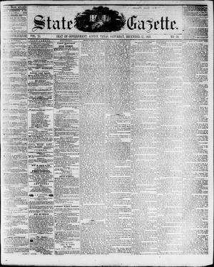 Primary view of object titled 'State Gazette. (Austin, Tex.), Vol. 11, No. 19, Ed. 1, Saturday, December 17, 1859'.